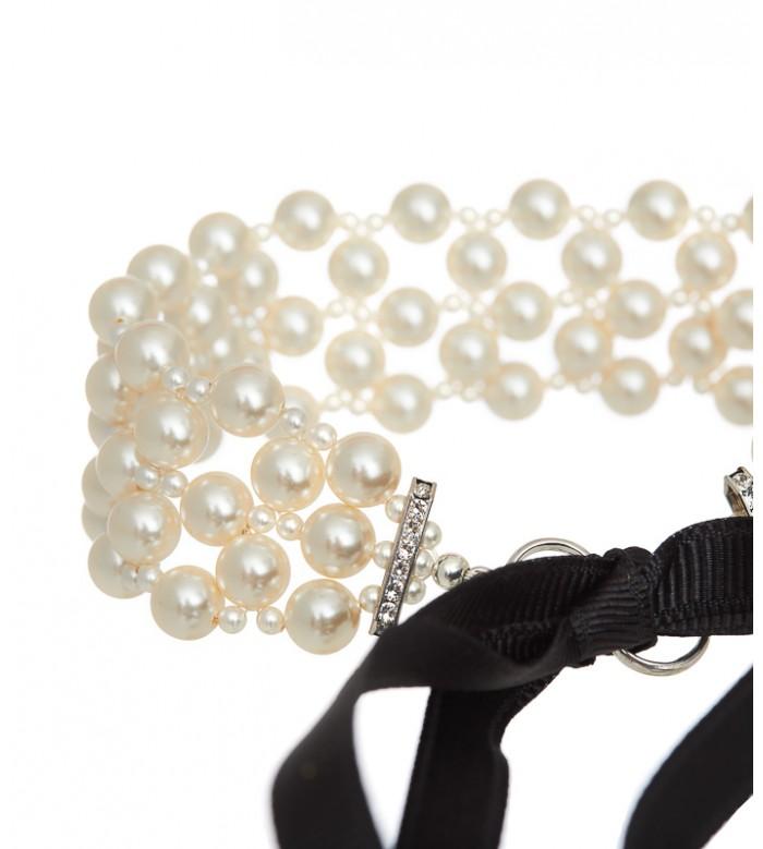 Choker din perle si cristale Swarovski bride